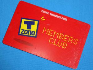 T-ZONE MEMBERS CLUB カードの表/JPEG/27KB