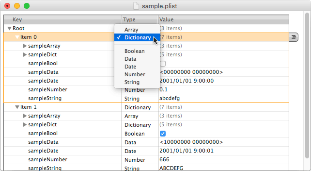 Property List Editor 5.3 での表示例/PNG/16KB